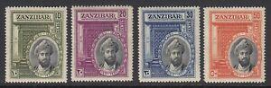 Zanzibar, Sc 214-217 (SG 323-326), MLH (slight brownish og as usual)