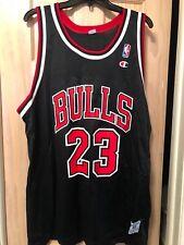 #23 Michael Jordan NBA Black Jersey Chicago Bulls Authentic Vintage Swingman