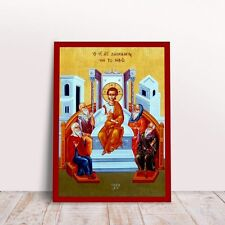 Jesus 12 year old at Temple byzantine orthodox icon handmade