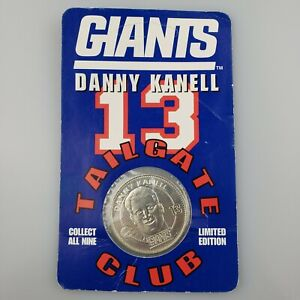 Danny Kanell #13 LIMITED Tailgate Club Coin 1998 Sealed New York Football Giants