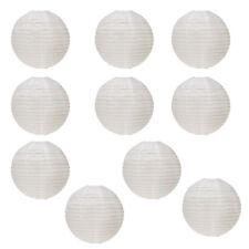 """16"""" Blanc ronde Lanterne en papier - (Paquet de 10) WT"""
