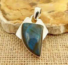Labradorite 925 Silver Pendant Indian Silver Real Little Gems