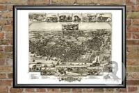 Old Map of Chester, PA from 1895 - Vintage Pennsylvania Art, Historic Decor