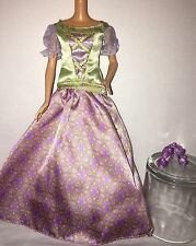 Royal Barbie Doll Outfit - CARNIVALE BALL Princess Purple Green Medieval Dress