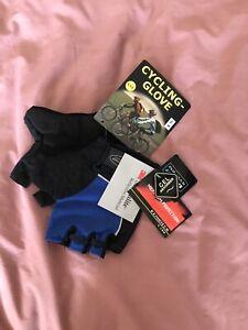 Men's Fingerless Cycling Gloves XXL Black / Blue Colour