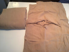 KING SIZE FITTED SHEET + 2 MATCHING PILLOW CASES. %100 LINEN. TOAST = BEIGE.