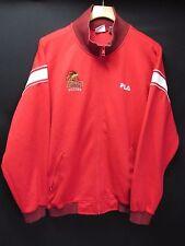 Fila VTG Sandiego State Soccer  Red Polyester Warm Up Track Jacket Men's L M19