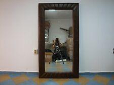 Timothy Oulton Vintage Retro Designer Leather Home Mirror 1.80m/1m