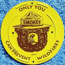 """USFS US Forest Service NEW Smokey Bear 4 1/2"""" Inch Boundary Marker Metal Sign"""