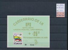 LL96150 Ecuador 1974 UPU centenary imperf sheet MNH cv 50 EUR