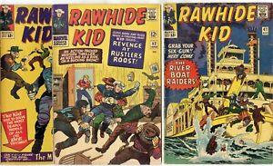 Rawhide Kid #47, 49, 52, 54, 56, 60  avg. VG+ 4.5  Marvel  1965  No Reserve