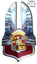 Cadillac Car Hood Ornament Cut Out Garage Art Metal Sign 9.5x16.5 RVG320S