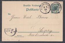 Togo Mi P1 used. 1900 5pf PostaL Card, Klein Popo-Leipzig, Germany
