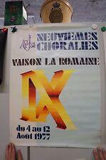 Vaison la Romaine Poster Grafik  1970er Jahre   79x59 G48