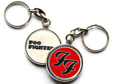 More details for foo fighters rock band chrome keyring picture both sides