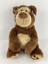 """Gund BENNIE 12"""" Brown Teddy Bear Plush Toy Doll 4042764 Stuffed Animal Ear Tag"""