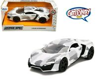 1/24 Jada HYPER-SPEC LYKAN HYPERSPORT Diecast Model Car White Camouflage 32273
