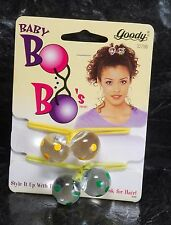 Goody Baby Bo Bo's Pair Hair Elastic Hair Accessories 1997 Yellow Green NOC