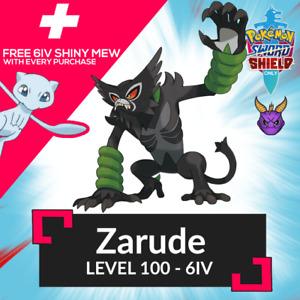 Movie 2020 6IV Comp Zarude + FREE ✨Shiny✨ MEW Pokemon Sword Shield