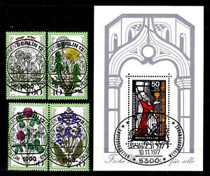 BRD, Bund 1977:  949 - 952, Bl. 15,  Wohlfahrt saubere Sonderstempel