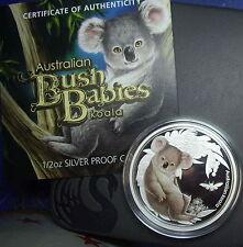 2011 Bush Babies Koala  Silver 50 Cent Proof coloured