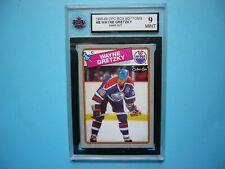 1988/89 O-PEE-CHEE NHL HOCKEY BOX BOTTOM CARD #B WAYNE GRETZKY KSA 9 MINT OPC