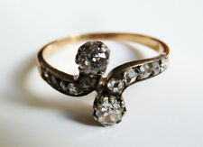 Bague en OR massif 18k + diamants  Bijou ancien 19e siècle gold ring