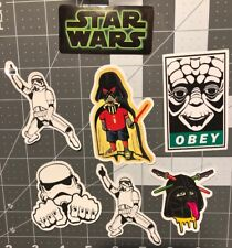 Star Wars 7 Pack Glossy Humor Skateboard Laptop Guitar Decal Stickers