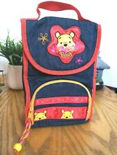 WINNIE THE POOH Insulated Kids Denim Lunch Bag NWOT 2 Sep Compartments School