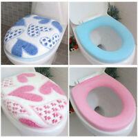 2Pcs/set Practical Washable Lid Top Cover+O Ring Mat Bathroom Toilet Seat Pad
