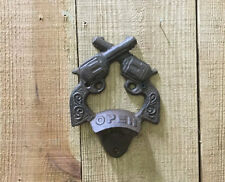 CAST IRON- Pistol Bottle Openers Wall Mount