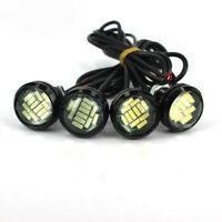 1 Pair Car LED White Eagle Eye Lights Auto DRL Backup Turn Signal Lamp 12V 15W