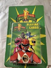 Vtg 1994 Mighty Morphin Power Rangers PLAYING CARDS Deck NEW Free Shipping