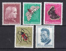 Schweiz 1953 postfrisch MiNr. 588-592  Pro Juventute  Insekten