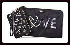 VICTORIA'S SECRET Love Clutch Set Travel Bag Tote & Pouch Set NWT!