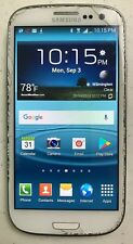 Samsung Galaxy S III SGH-T999 16GB Marble White Cracked Glass Parts Only