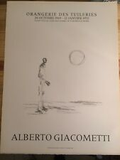 Lithographie Mourlot Giacometti Affiche Orangerie des Tuileries 1969