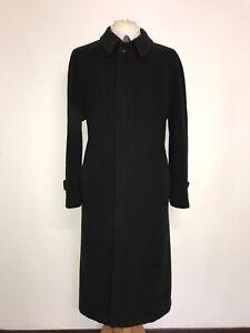 ARMANI Collezioni -Mens Long BLACK WOOL COAT - UK 44-46 Reg -GORGEOUS OVERCOAT