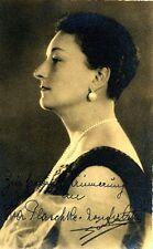EVA VAN DER OSTEN opera soprano signed photo, created Octavian for Strauss