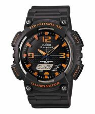 Casio Solar Analog/Digital Watch, Grey Resin, 100 Meter, 5 Alarms, AQS810W-8AV