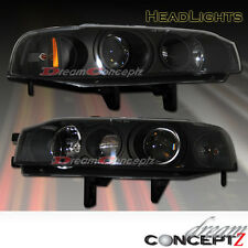 1990 1991 1992 1993 Honda Accord projector headlights black style sedan / coupe