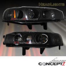 1990 1991 1992 1993 Honda Accord projector headlights black style sedan / coupe
