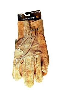 Carhartt Mens Gloves Size Large Work And Garden Heavy Duty Leather Utility A553