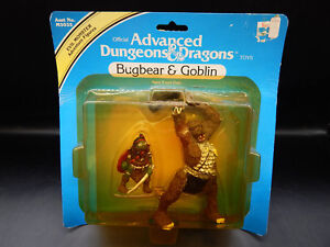 MOC 1983 tsr BUGBEAR & GOBLIN Advanced Dungeons & Dragons PVC monster toy LJN !!