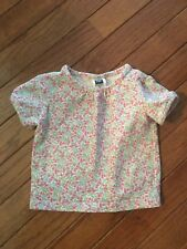 Gap ~ Baby Girl's Floral Stretch Shirt ~ 6-12 Months