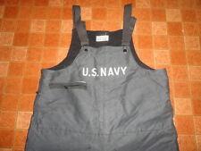 Men's Vtg WWII U.S Navy USN Blue Stenciled Latches Deck WW2 Pants Overalls Sz-XL