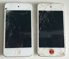 2x Apple iPod Touch 4th Gen - White - Cracked Screens - Faulty