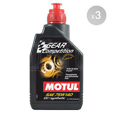 Motul GEAR Competition 75W-140 Racing Lube for Limited Slip Diff 3 x 1 Litre 3L