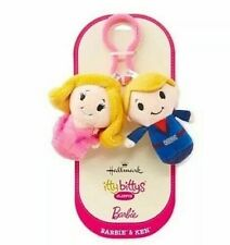 Hallmark Itty Bittys Clippys BARBIE & KEN 2 pc Plush New on Card Free Shipping