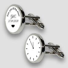Personalised Wedding Cufflinks, Engagement cufflinks, Wedding Day gift for Groom